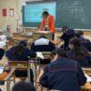 毎年恒例の大淀中学校での職業講話の日