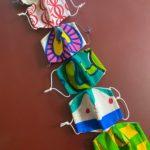 秦まりのさんの生地でatricot制作のマスク